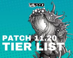 League of Legends Tier List Patch 11.20 (Melhores Campeões em cada posição)